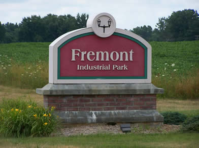 Fremont Industrial Park sign