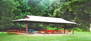 A pavilion in Branstrom Park