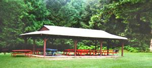 A pavilion in Branstrom Park
