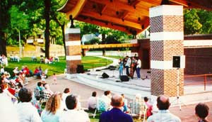 A concert in Veterans Memorial Park